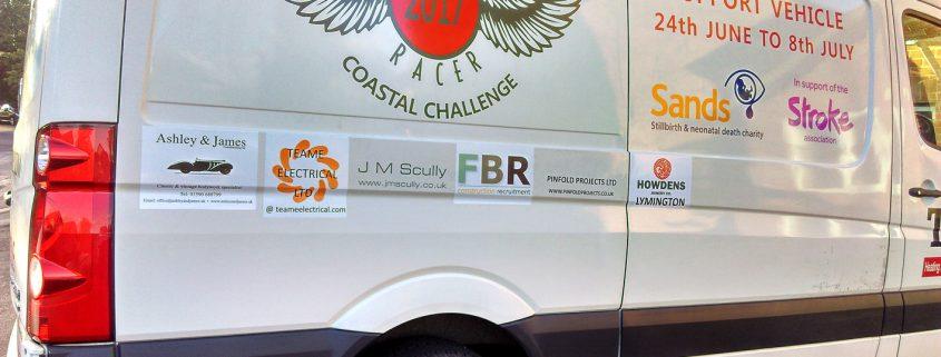 Support vehicle to Lee Marsh's Big Bike Charity Hike