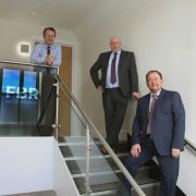 Tom, Mark and Richard outside FBR new offices